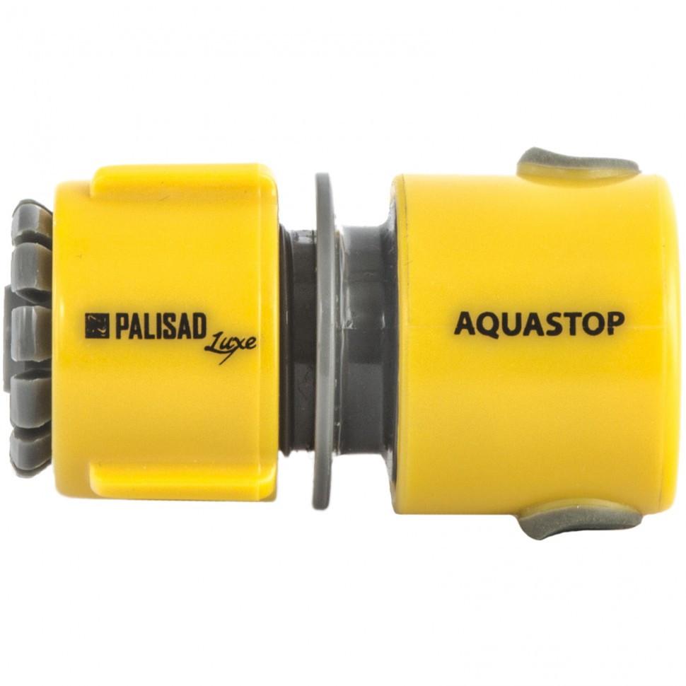 Соединитель пластмассовый, быстросъемный для шланга 1/2, аквастоп, Luxe Palisad