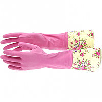 Перчатки хозяйственные, латексные с манжетой, XL Elfe
