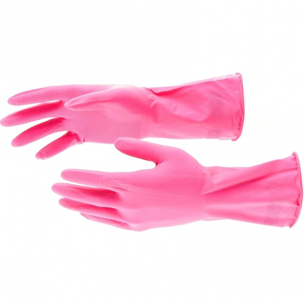 Перчатки хозяйственные, латексные, M Elfe