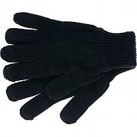 Перчатки трикотажные, акрил, двойные, черный, двойная манжета Россия Сибртех