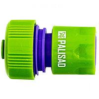 Соединитель пластмассовый, быстросъемный для шланга 3/4, аквастоп Palisad