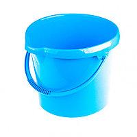 Ведро пластмассовое круглое 12 л, голубое Elfe, фото 1
