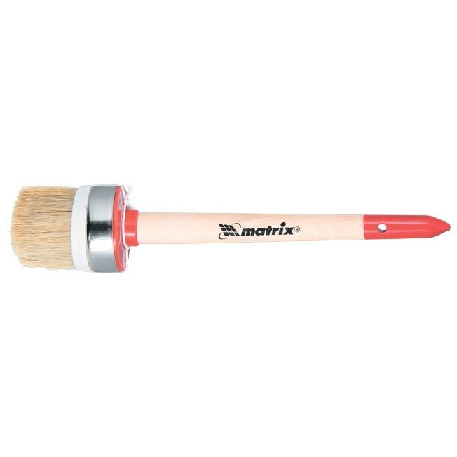 Кисть круглая, Профи №4 (25 мм), натуральная щетина, деревянная ручка MTX