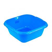 Таз пластмассовый квадратный 12 л, голубой, Россия Elfe, фото 1