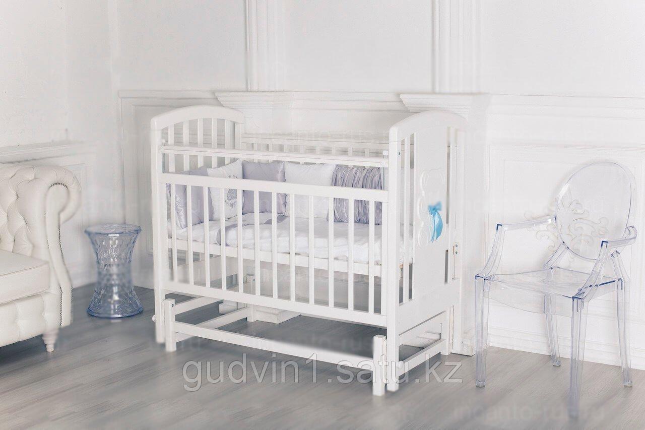 """Кровать """"Incanto HUGGE"""" цвет белый, маятник поперечный 01-06298"""