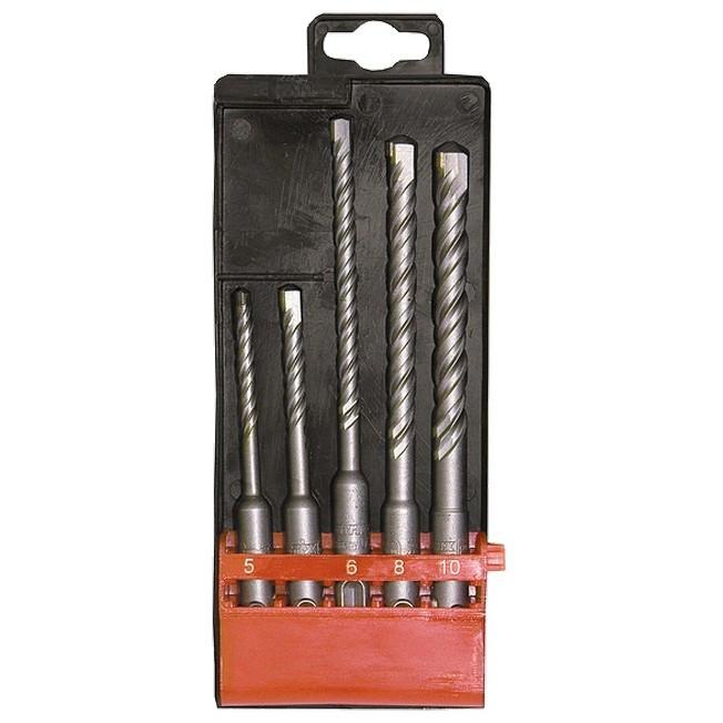 Набор буров по бетону, 5-6 х 110,6-8-10 х 160 мм, 5 шт, в пластиковой коробке, SDS Plus Matrix
