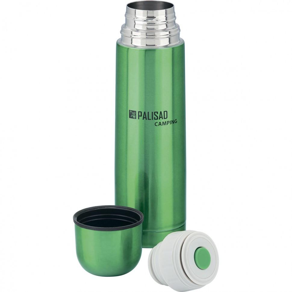 Термос классический с клапаном, 500 мл, зеленый Camping Palisad