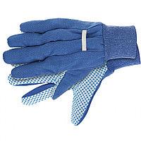 Перчатки рабочие х/б ткань с ПВХ точкой, манжет, XL Сибртех, фото 1