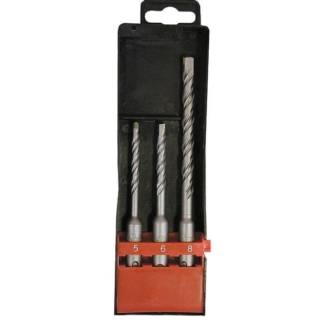 Набор буров по бетону, 5 х 110,6 х 110,8 х 160 мм, 3 шт, в пластиковой коробке, SDS Plus Matrix