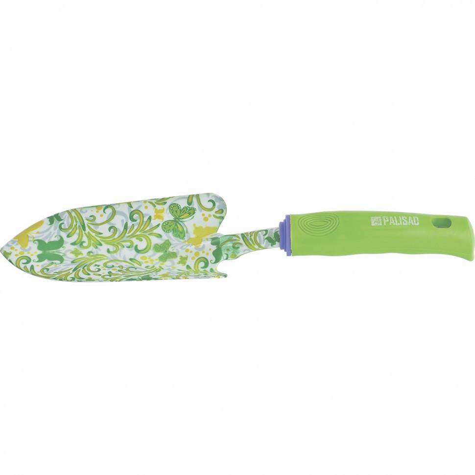 Совок посадочный широкий, 80 x 330 мм, стальной, пластиковая рукоятка, Flower Green Palisad