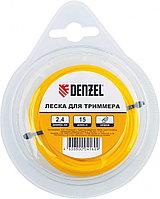 Леска для триммера квадратная, 1,6 мм х 15 м Denzel Россия