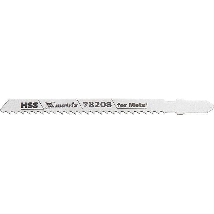 Полотна для электролобзика по металлу, 3 шт, T127D, 75 х 3 мм, HSS Matrix Professional