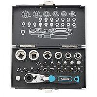 Набор бит и головок торцевых, 1/4, магнитный адаптер, сталь S2, пластиковый кейс, 26 предметов Gross
