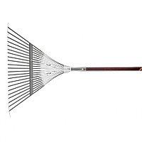 Грабли веерные стальные, 550х1550 мм, 22 плоских зуба, лакированный черенок, LUXE Palisad