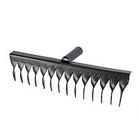 Грабли стальные, 350 мм, 14 витых зубьев, без черенка, Россия Сибртех
