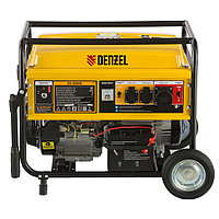 Генератор бензиновый GE 6900E, 5.5 кВт, 220 В/50 Гц, 25 л, электростартер Denzel