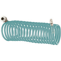 Полиуретановый спиральный шланг профессиональный BASF, 10 м, с быстросъемными соединениями Stels