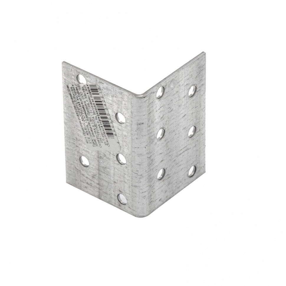 Крепежный уголок равносторонний 2 мм, KUR 40 x 40 x 60 мм Россия Сибртех