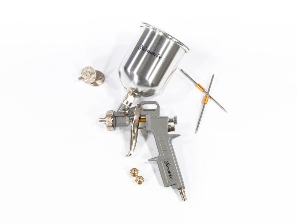 Краскораспылитель пневматический с верхним бачком V 0,6 л, сопло D 1.2, 1.5 и 1.8 мм Matrix