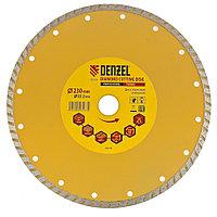 Диск алмазный, отрезной Turbo, 230 х 22,2 мм, сухая резка Denzel, фото 1