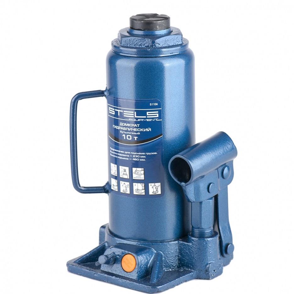 Домкрат гидравлический бутылочный, 10 т, H подъема 230-460 мм Stels