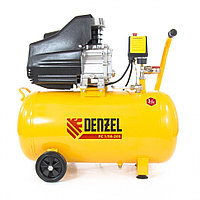 Компрессор пневматический, 1,5 кВт, 206 л/мин, 50 л Denzel