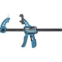 Струбцина реечная быстрозажимная 24, пистолетного типа, пошаговый механизм, пластиковый корпус, 600 мм Gross, фото 1