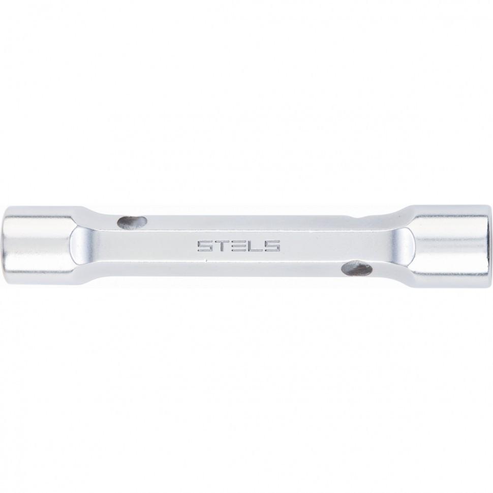 Ключ трубка торцевой усиленный, 22 х 24 мм, CrV Stels