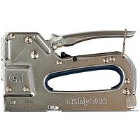 Степлер мебельный, металлический, регулируемый, тип скобы: 53, 4-14 мм Сибртех