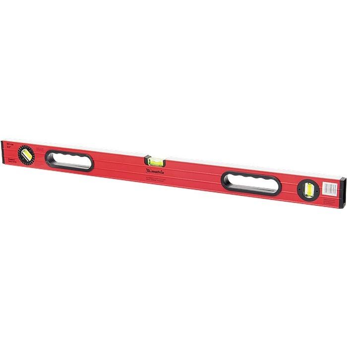 Уровень алюминиевый, 1800 мм, фрезерованный, 3 глазка (1 поворотный), две ручки, усиленный Matrix