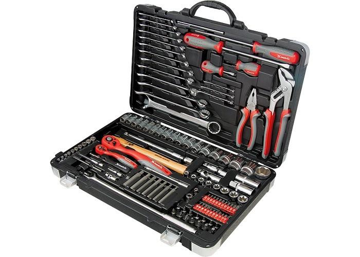 Набор инструмента, 1/4, 1/2, Cr-V, S2, усиленный кейс, 119 предметов Matrix Professional