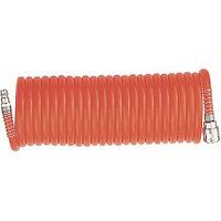 Шланг спиральный воздушный 8 х 12 мм, 18 бар, с быстросъемными соединениями, 10м Stels