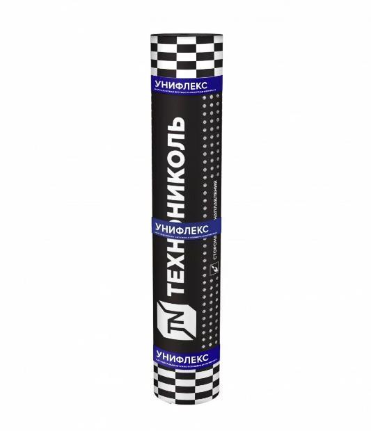 Унифлекс ЭКП серый 10х1, полиэстер, кровельный материал ТехноНИКОЛЬ (Верхний слой) толщина 3,8 мм