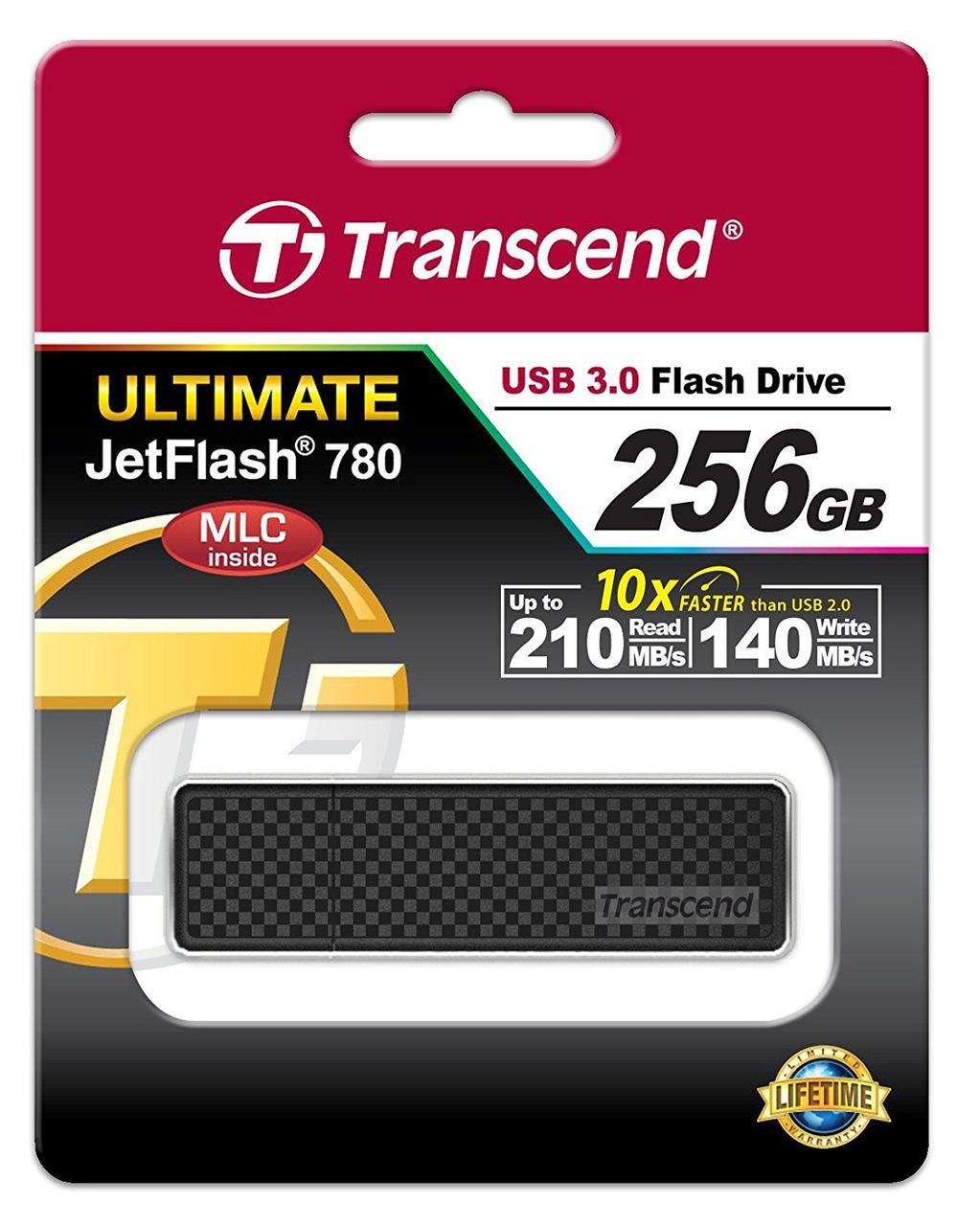 Transcend TS256GJF780 USB Флеш накопитель 256GB USB 3.0 цвет черный