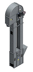Нория вертикальная для погрузки зерна и сыпучих материалов НПЗ 20