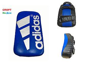 Макивара для отработки ударов ногами Adidas кожа (сине-черный)