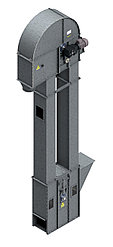 Нория вертикальная для погрузки зерна и сыпучих материалов НПЗ-10 20м