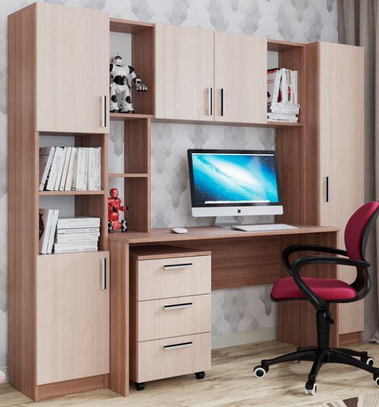 Комплект мебели для детской СК-7, Ясень Шимо светлый, СВ Мебель(Россия)