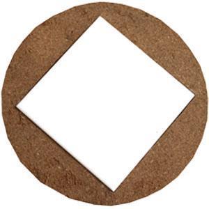 Деревянная рамка 19*19см  (для кафеля 15*15 см)