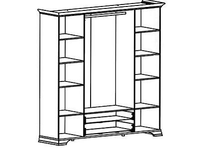 Шкаф для одежды 6Д , коллекции Кентаки, Белый, БРВ Брест (Беларусь), фото 2