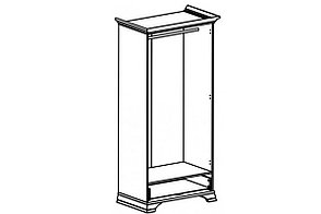Шкаф для одежды 2Д , коллекции Кентаки, Белый, БРВ Брест (Беларусь), фото 3