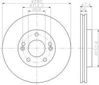 Тормозные диски Hyundai Tucson (04->10, передние, Lpr, D280)