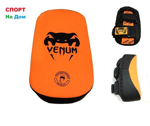 Макивара для отработки ударов ногами Venum кожа (чёрно-оранжевый), фото 2