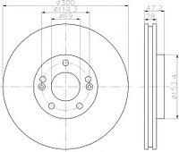 Тормозные диски Hyundai Tucson (04->10, передние, Ashika, D300)