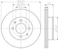 Тормозные диски Hyundai Accent (05-10, передние, JapKo, D241)