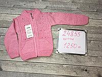 Вязанная кофта для девочек