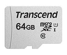 Transcend TS64GUSD300S Карта памяти MicroSD 64GB Class 10 U1