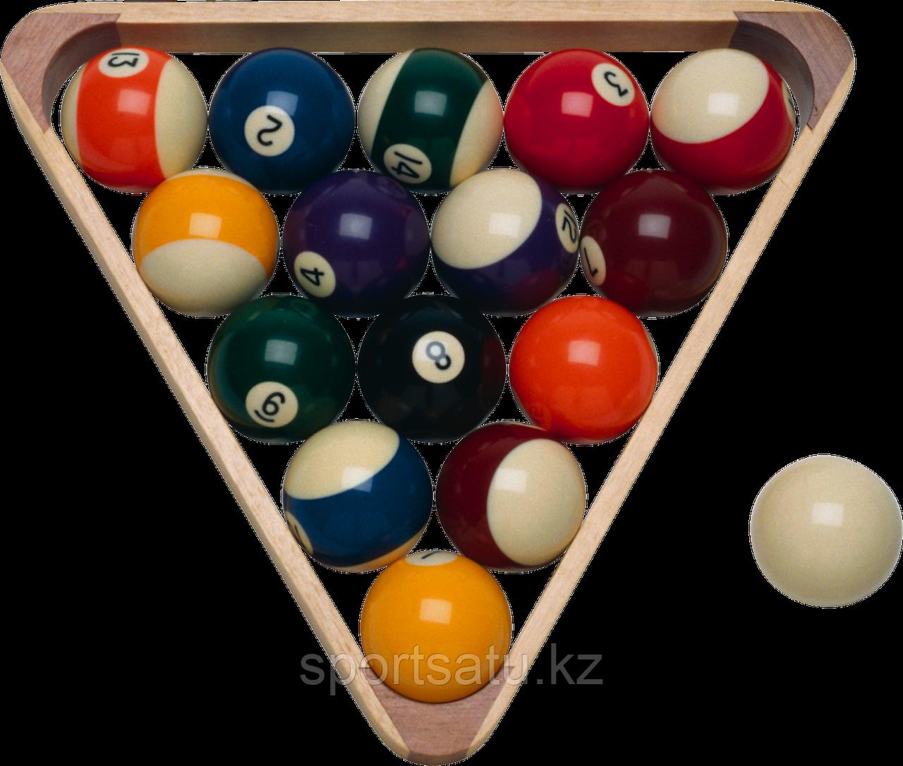 Бильярдные шары цветные