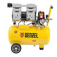 Компрессор DLS950/24 безмаслянный малошумный 950 Вт, 165 л/мин,ресивер 24 л// Denzel, фото 1