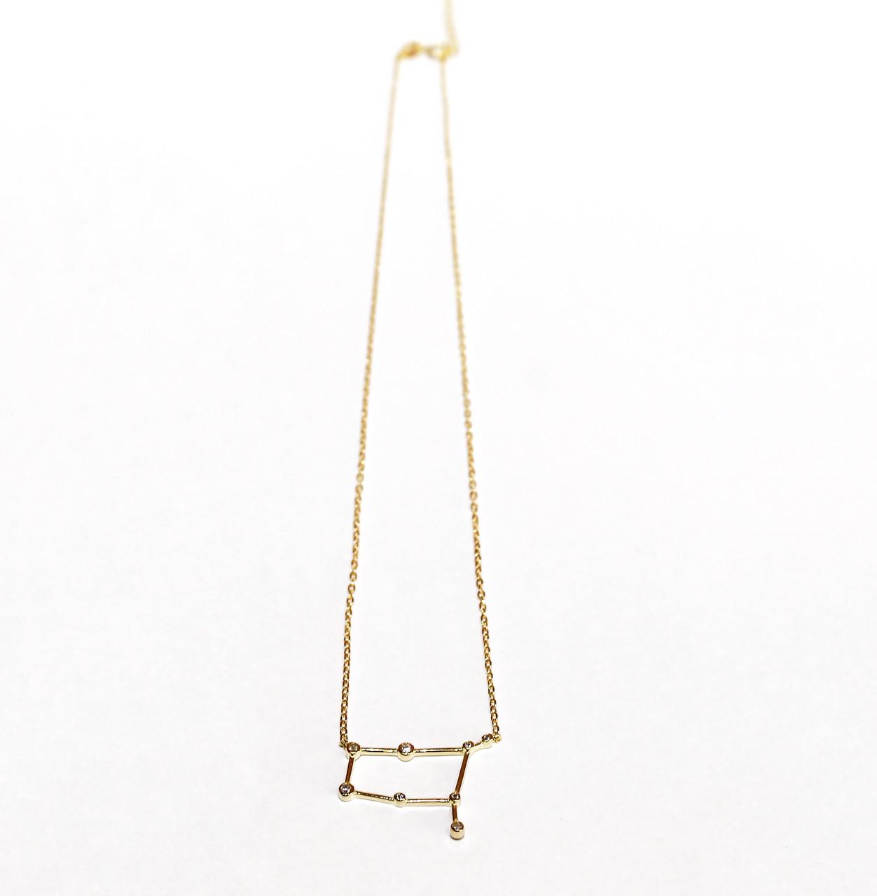 Серебряная подвеска Созвездие (Близнецы) Золочение Brosh Jewellery (Серебро 925)